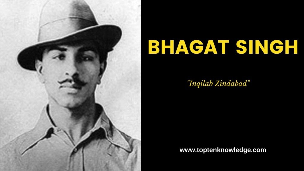 Top 10 Great Freedom Fighter in India BHAGAT SINGH
